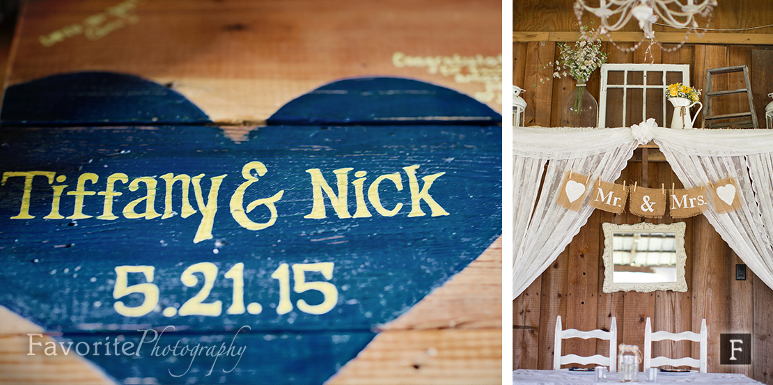 Rustic Theme Wishing Well Barn Wedding Photographer