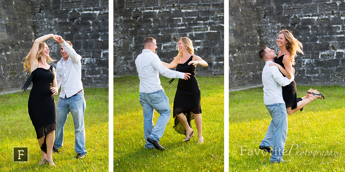 Dancing St Augustine engagement photos