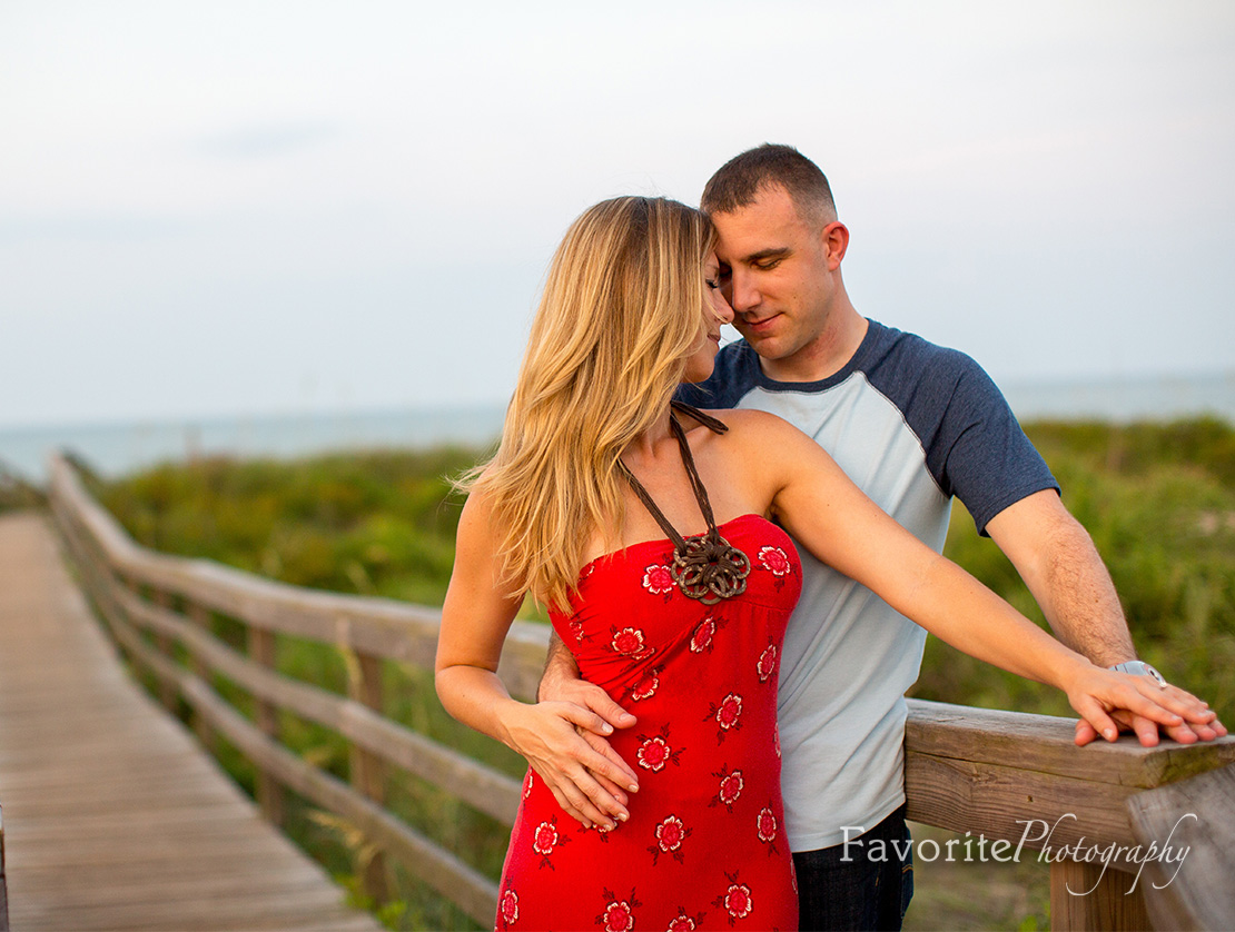 Romantic St Augustine engagement photos