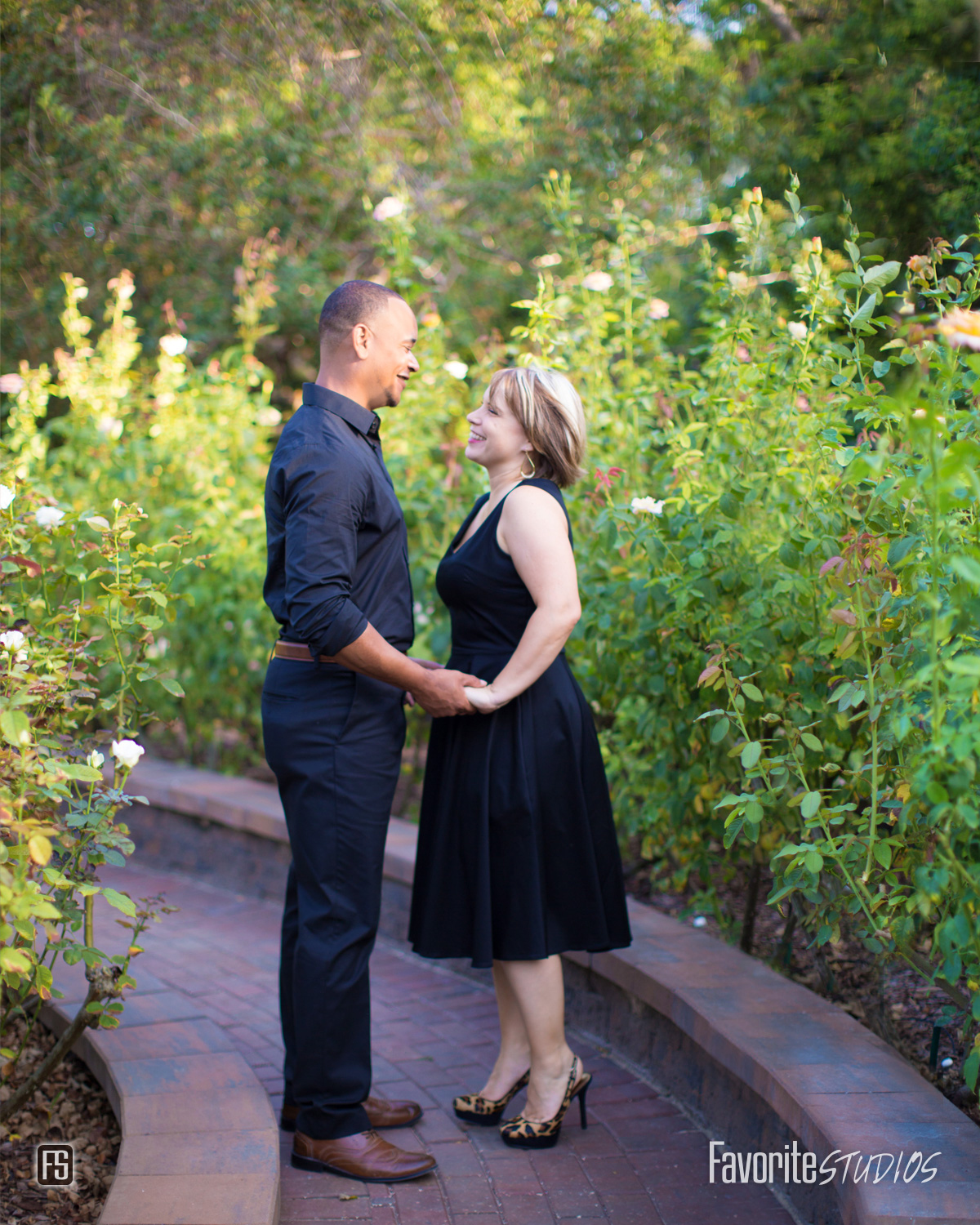 Rose Garden Engagement Picture