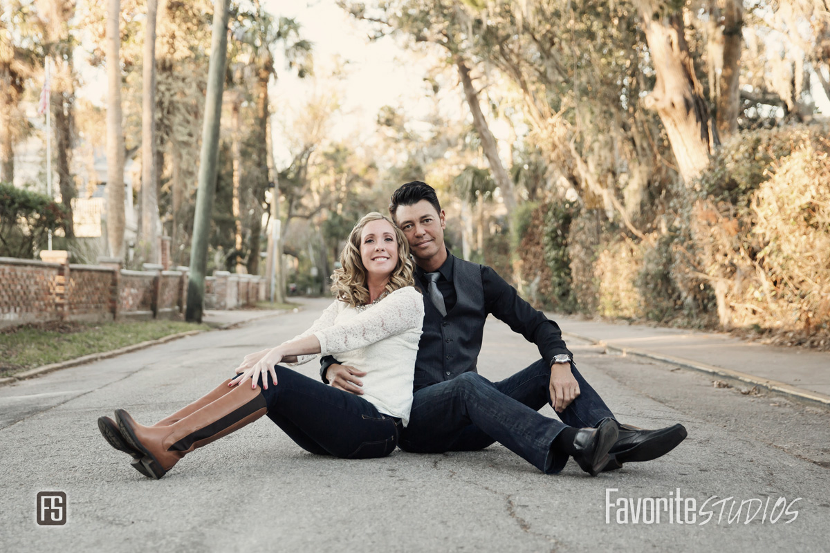 Saint Augustine Street Engagement Photo