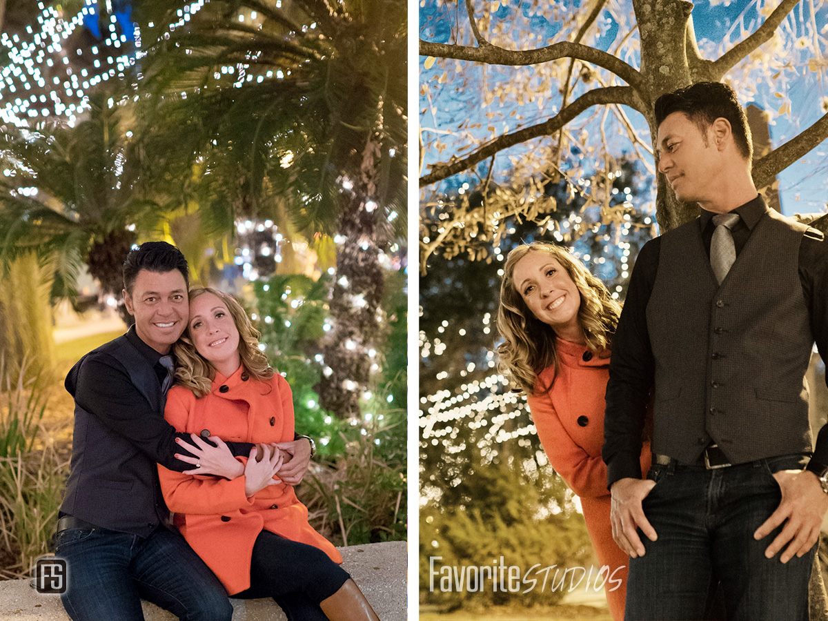 Saint Augustine Nights of Lights engagement session