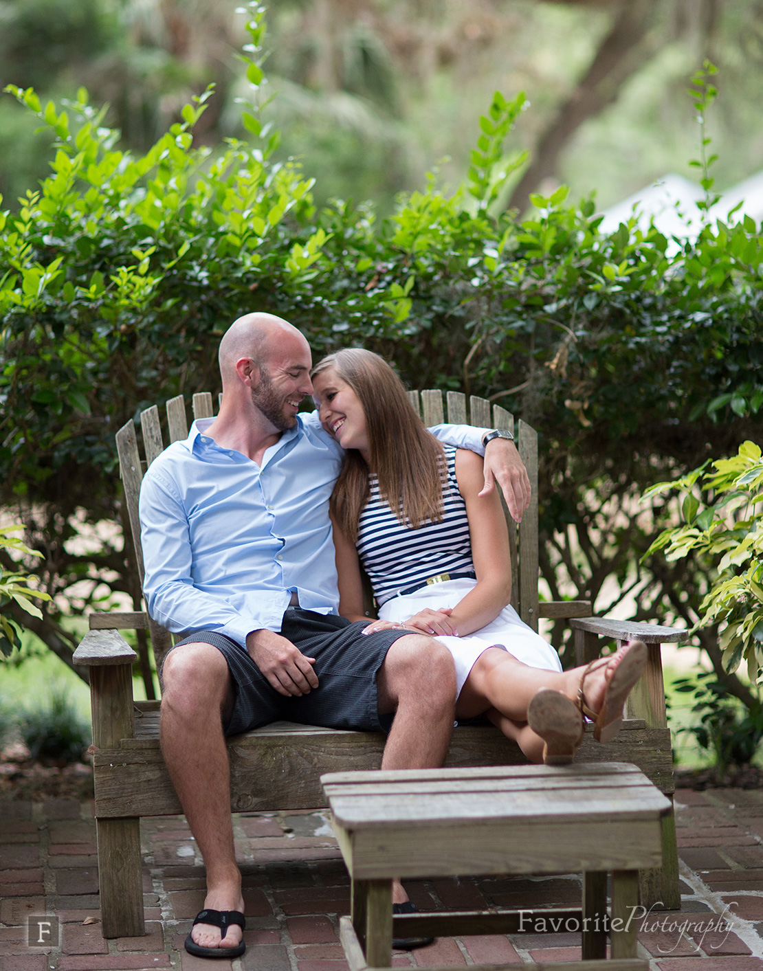 Natural Palm Coast Engagement Picture