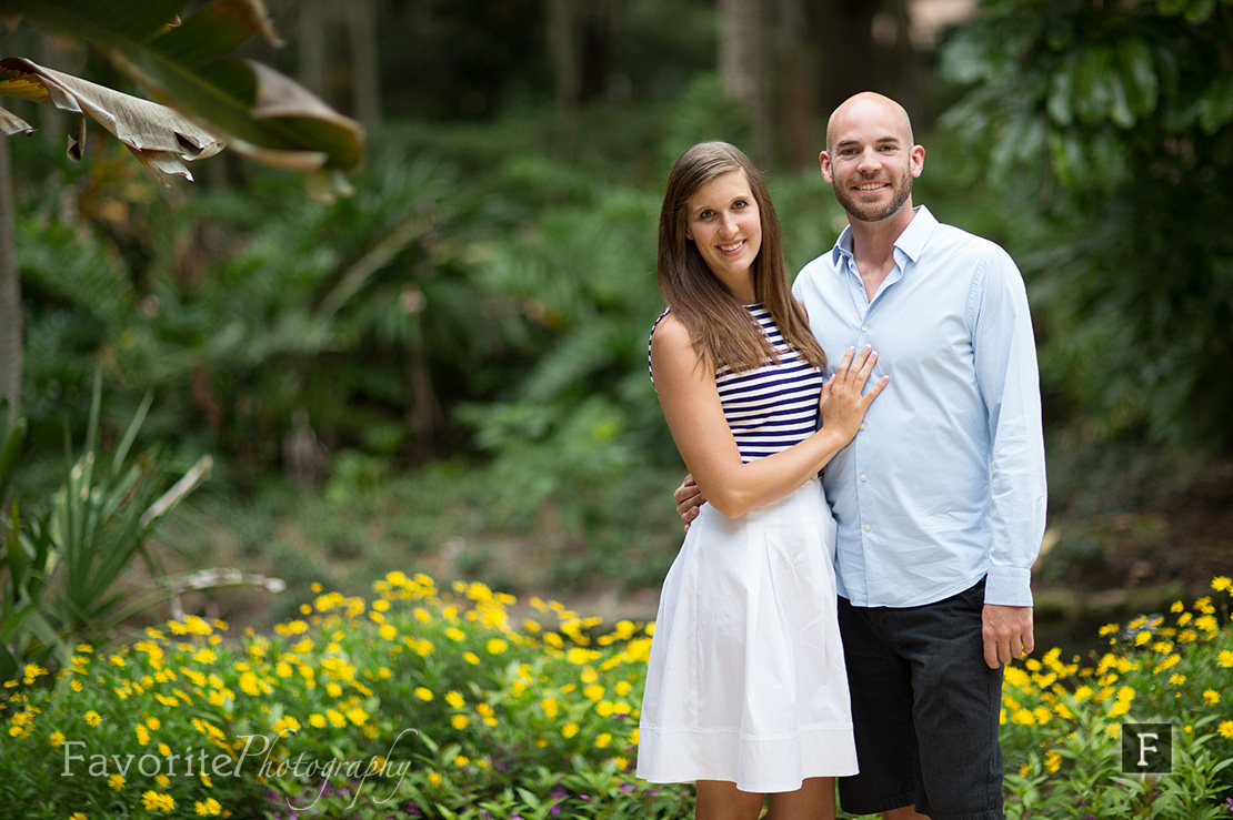 Gorgeous Garden Engagement Picture
