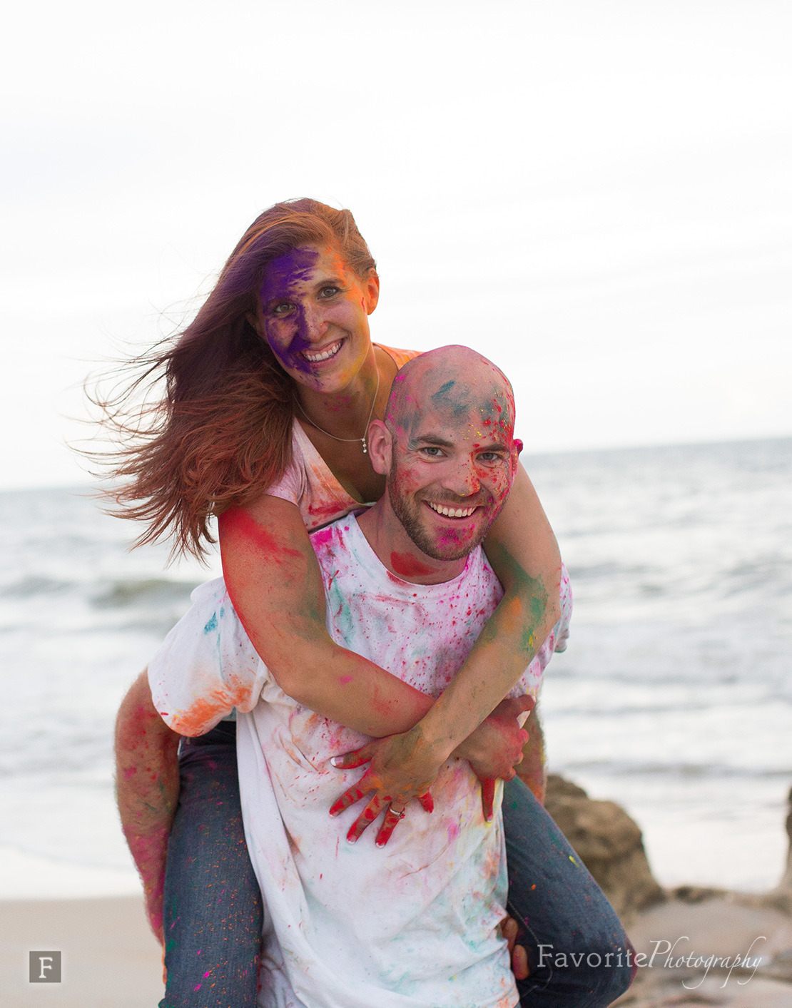 Fun Holi Powder Engagement Picture