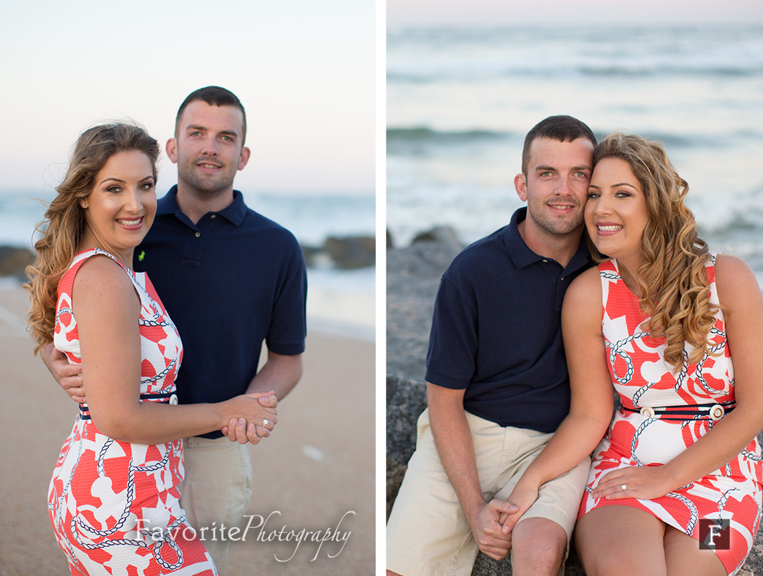 Lovely Engagement Pictures on the beach