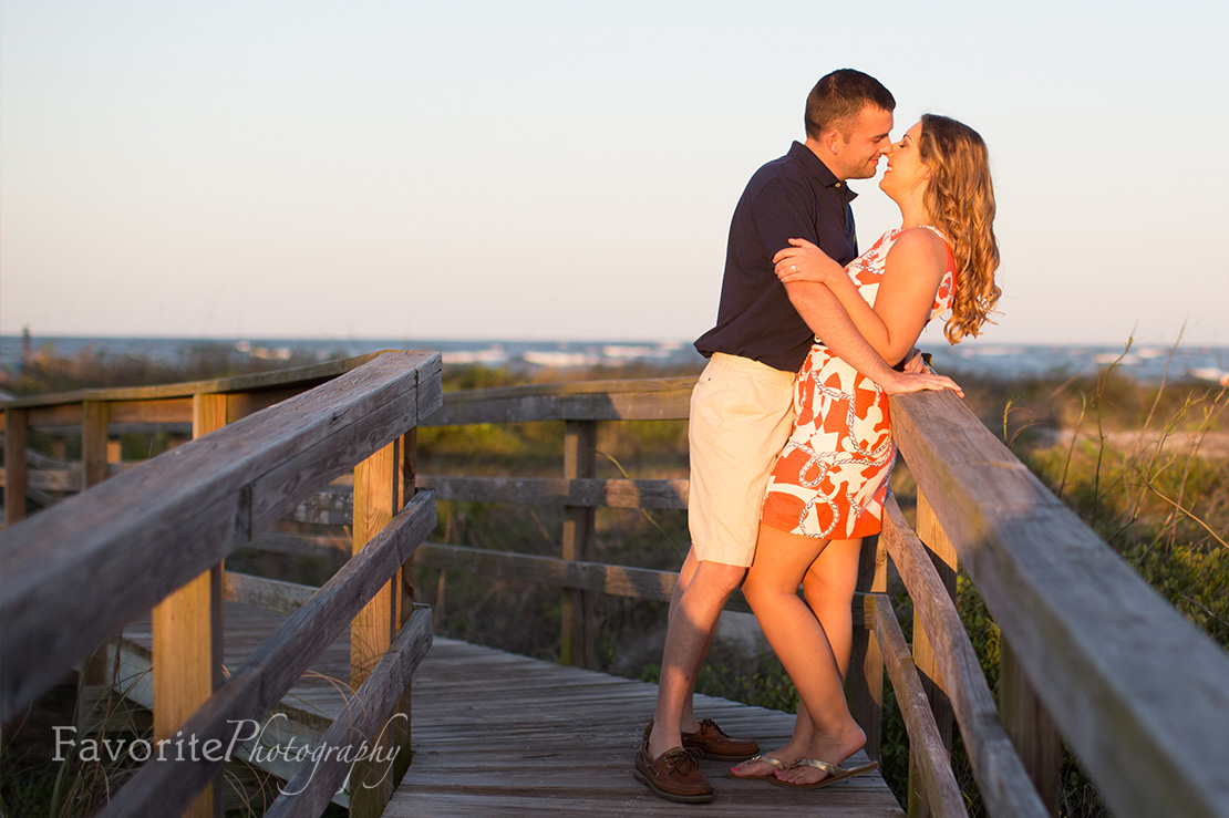 Golden Hour Engagement Beach Photo