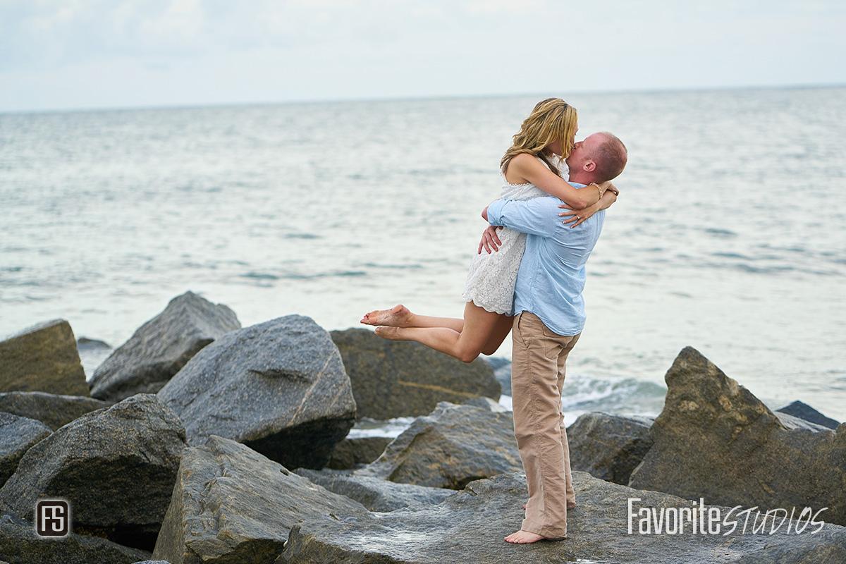 St Augustine Vilano Beach Engagement Photographer