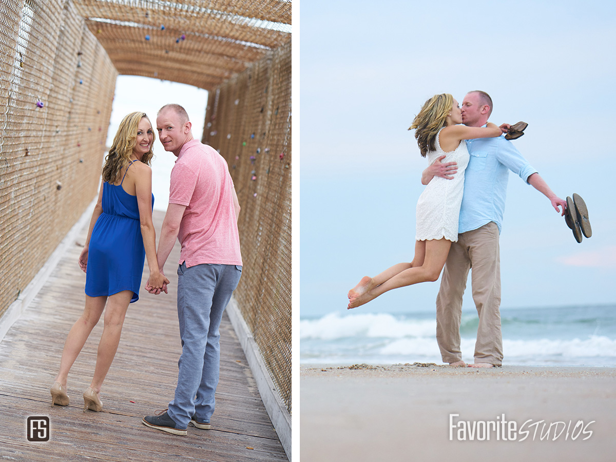 Vilano Beach Engagement Photography