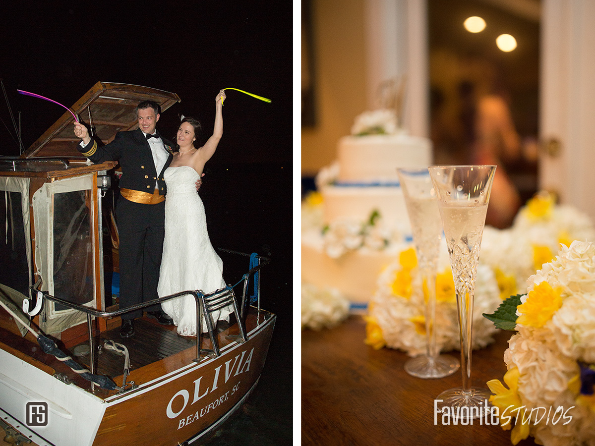 Beaufort Yacht & Sailing Club Wedding Reception and Sendoff Photo