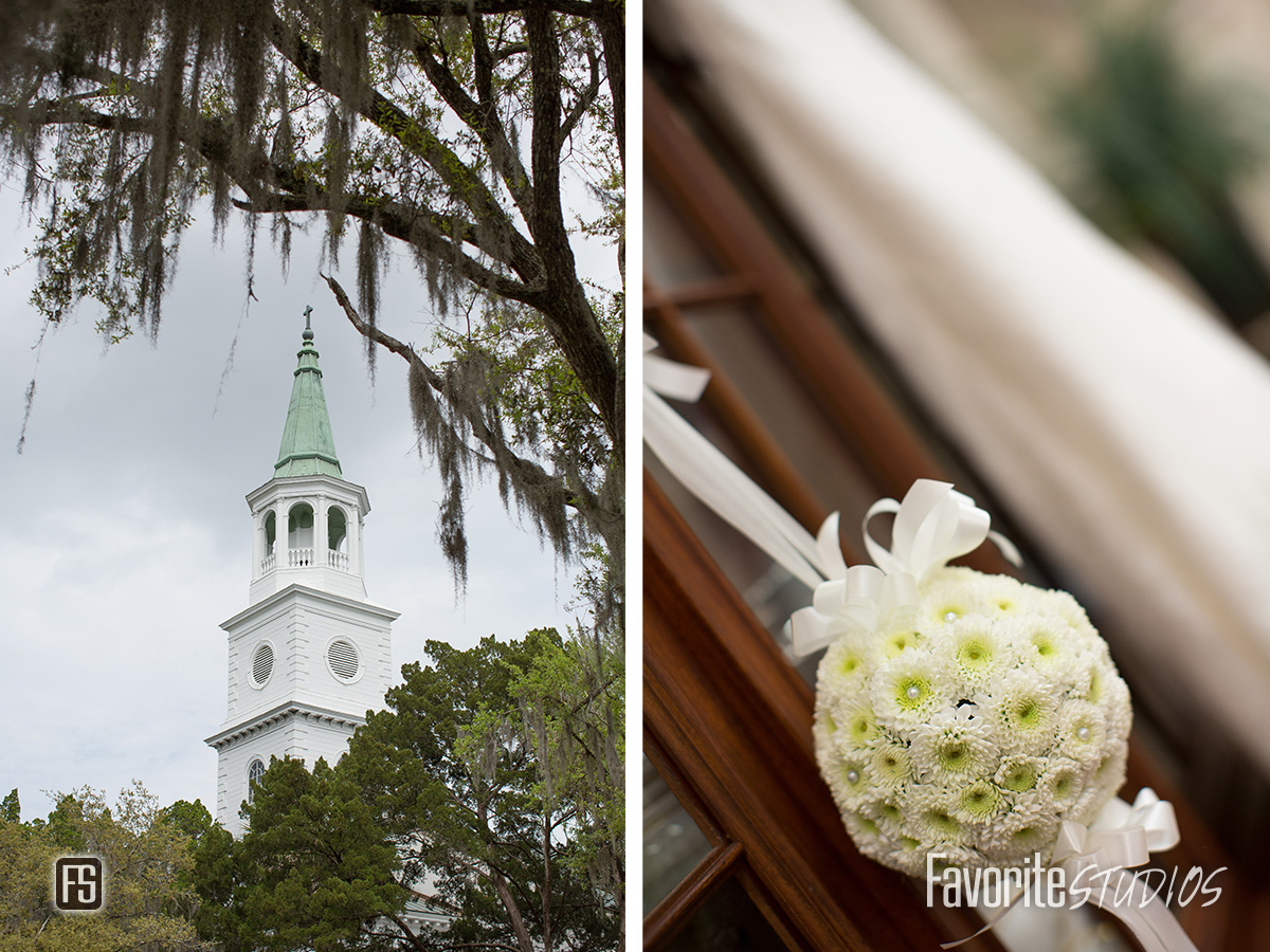 Southern Charm Wedding Detail and Church Photography