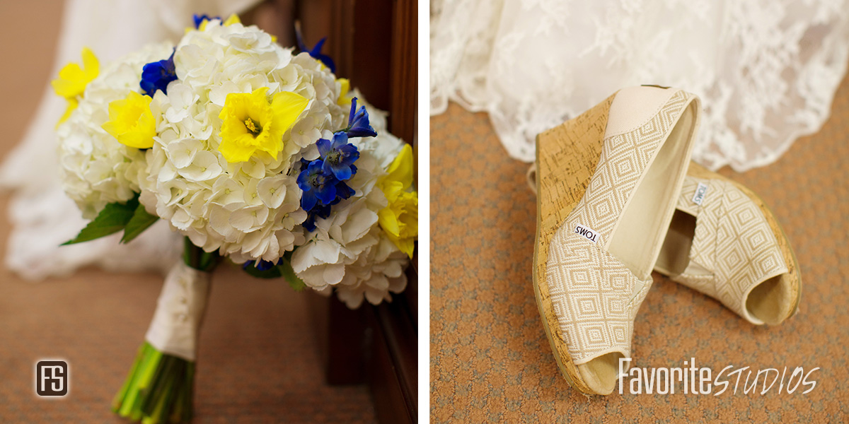 Flowers and TOMS Wedding Shoes Photography