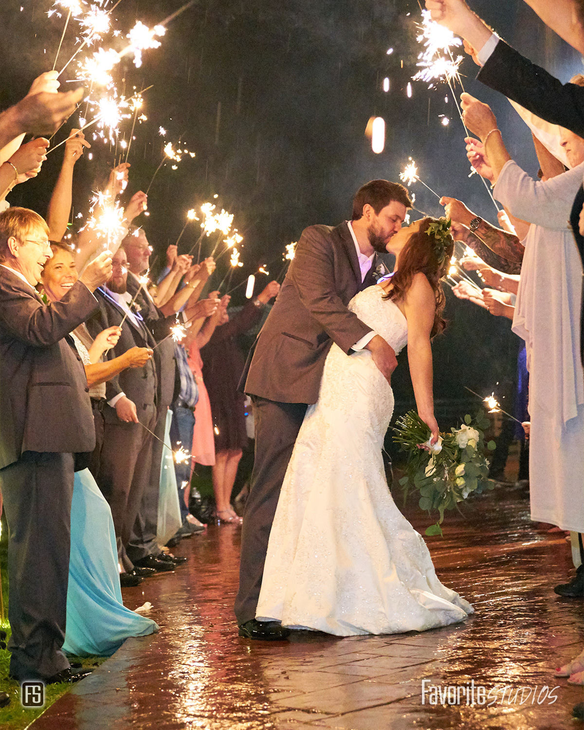 Plantation Oaks Farms Wedding Sparkler Exit Photo