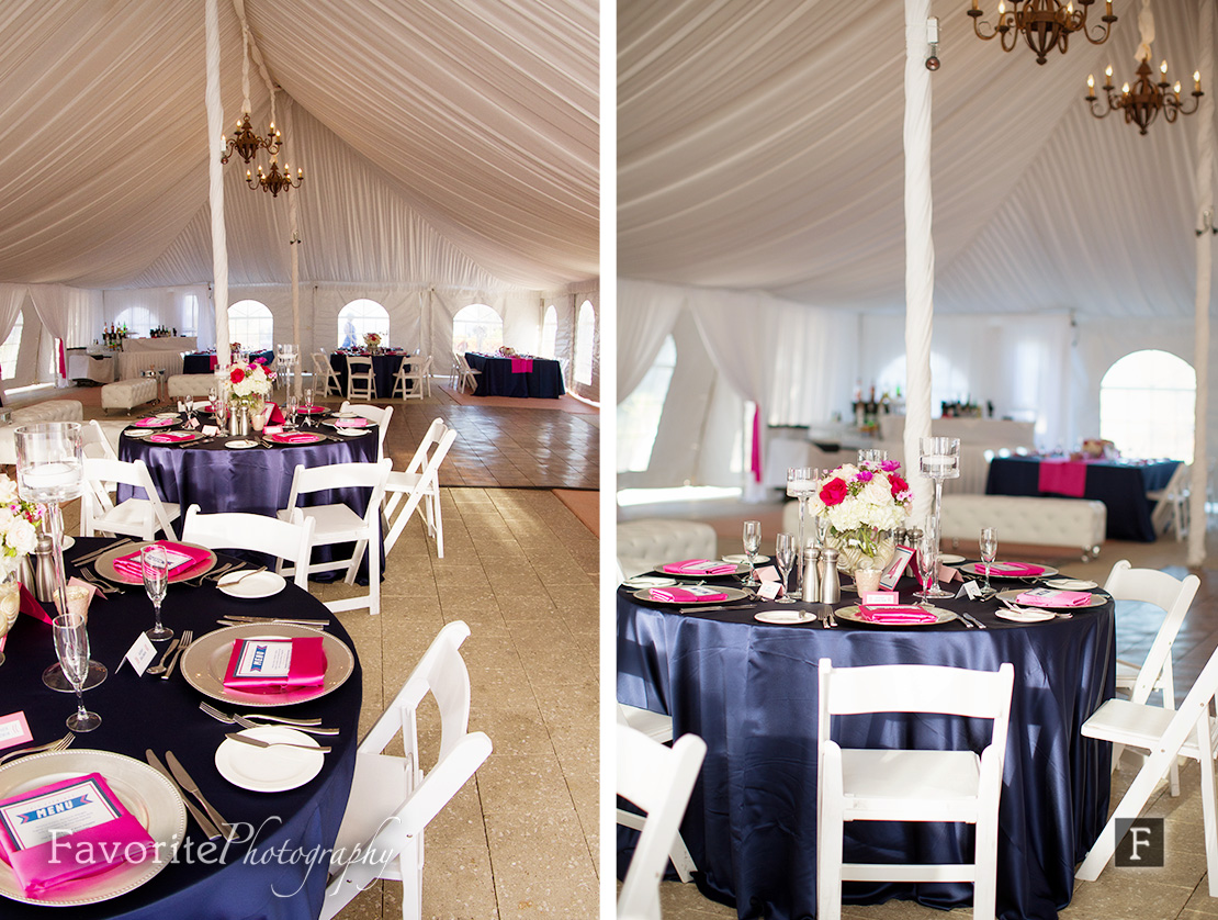 Wedding Reception Tent & Table Decor