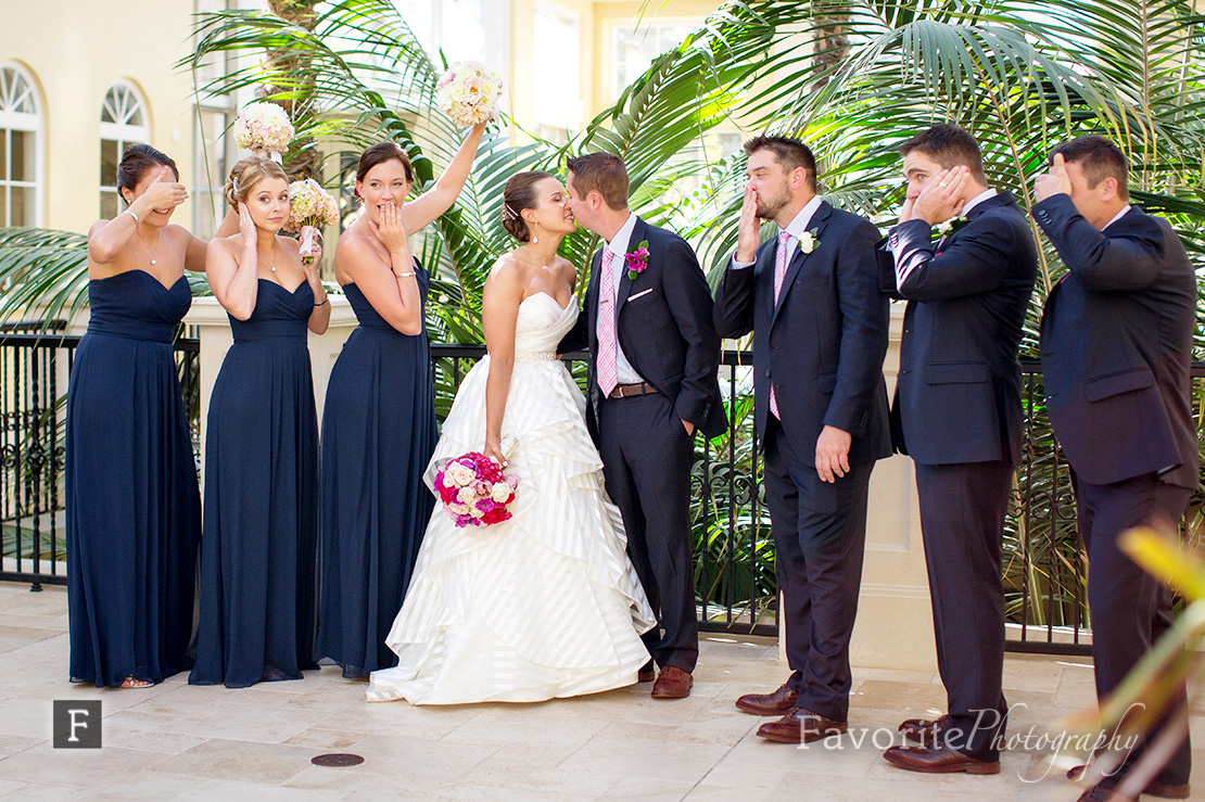 Wedding Party Photo at the Conservatory in Palm Coast