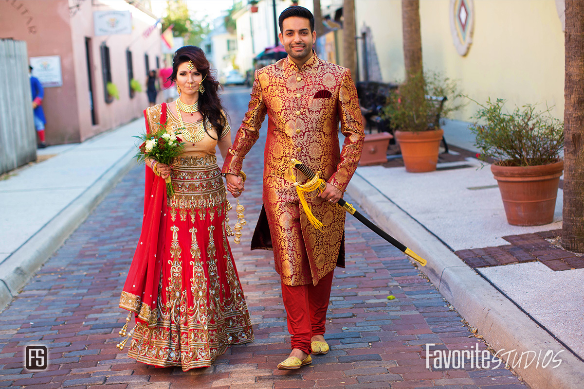 St Augustine Wedding Photographer - Indian Bride and Groom