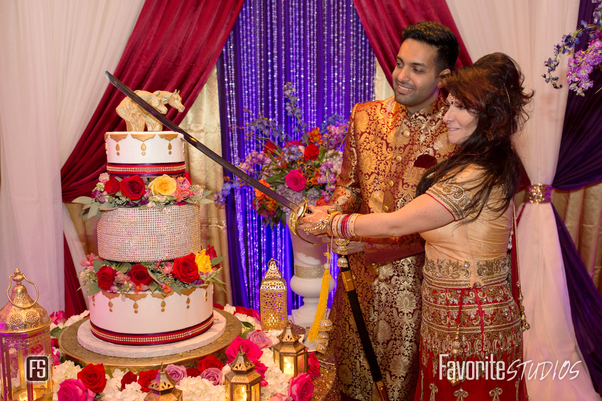 Indian Cake Cutting with Sword - St Augustine Wedding Photographer
