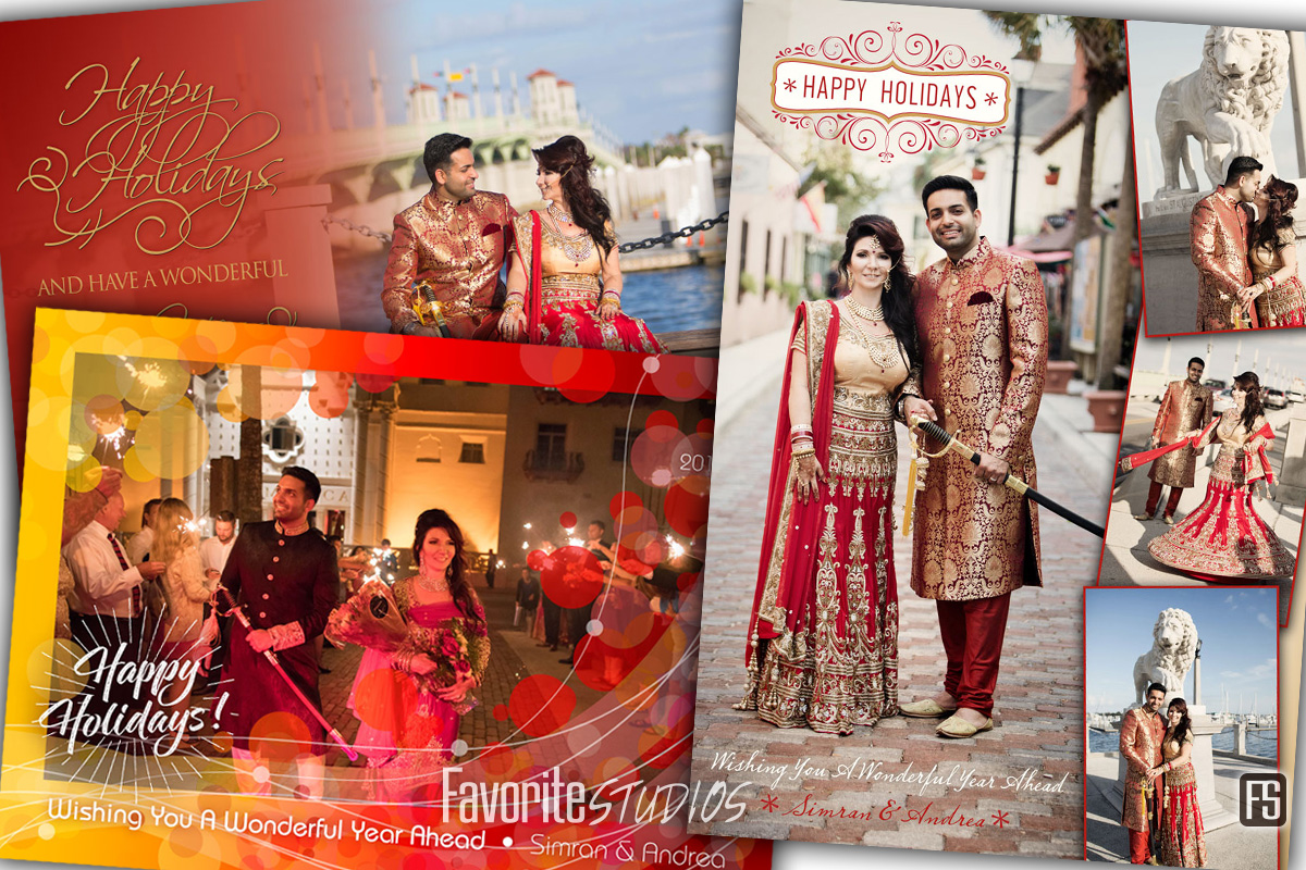 Holiday Cards - St Augustine Indian Wedding Photographer