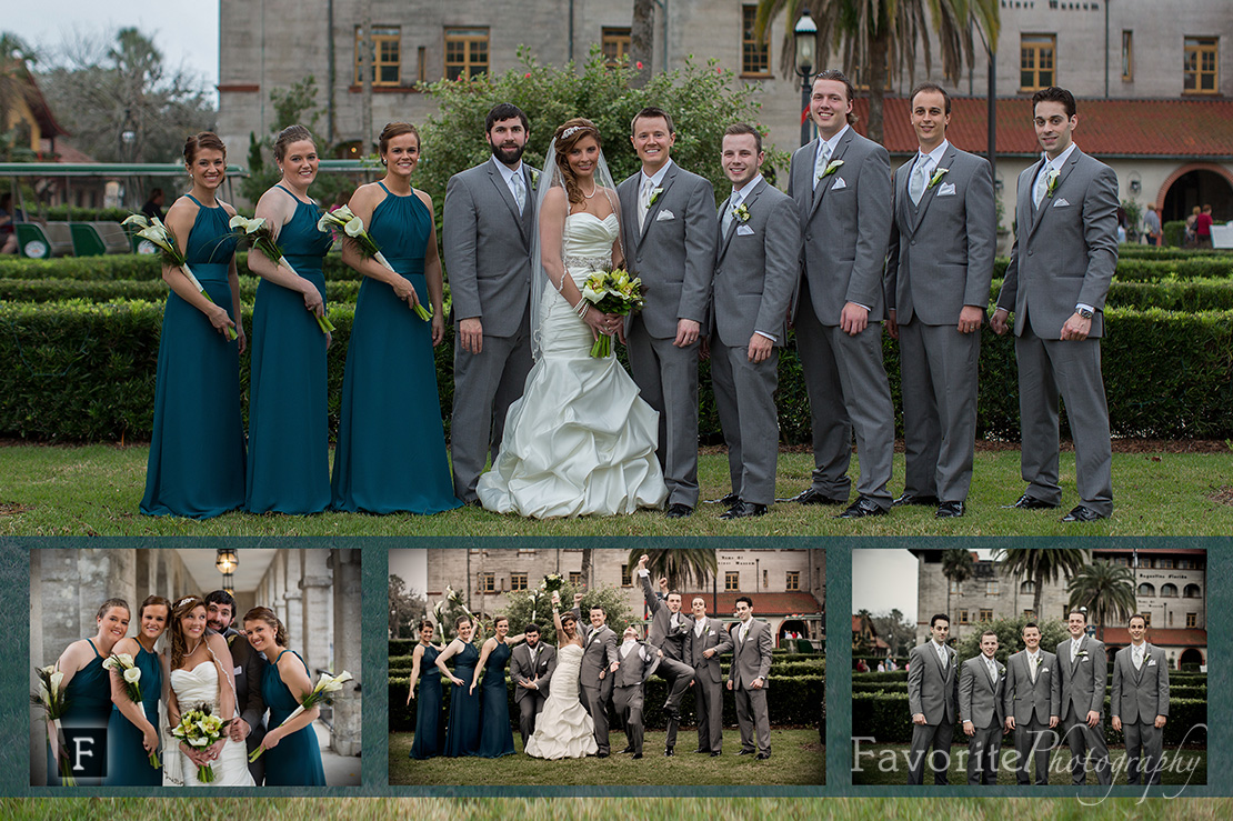 Cathedral and Casa Monica of St Augustine Wedding Photography