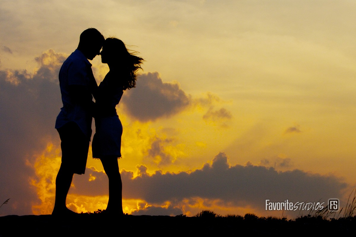 Beachside Park, Romantic Sunset Venue, Intimate Engagement and Wedding Photographer, Silhouette Photography Shots