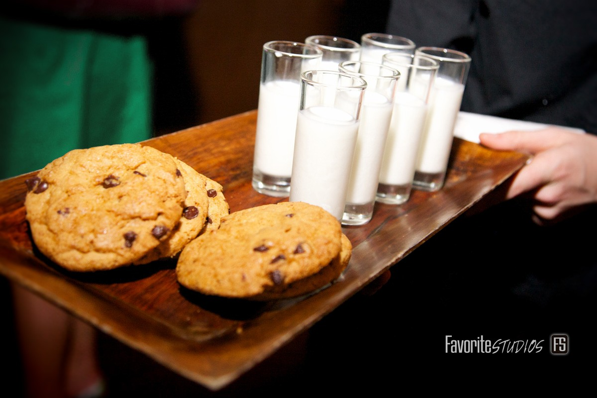 Cocktail Hour, Wedding, Milk and Cookies, Fun Food, Wedding Reception, Florida Photographers
