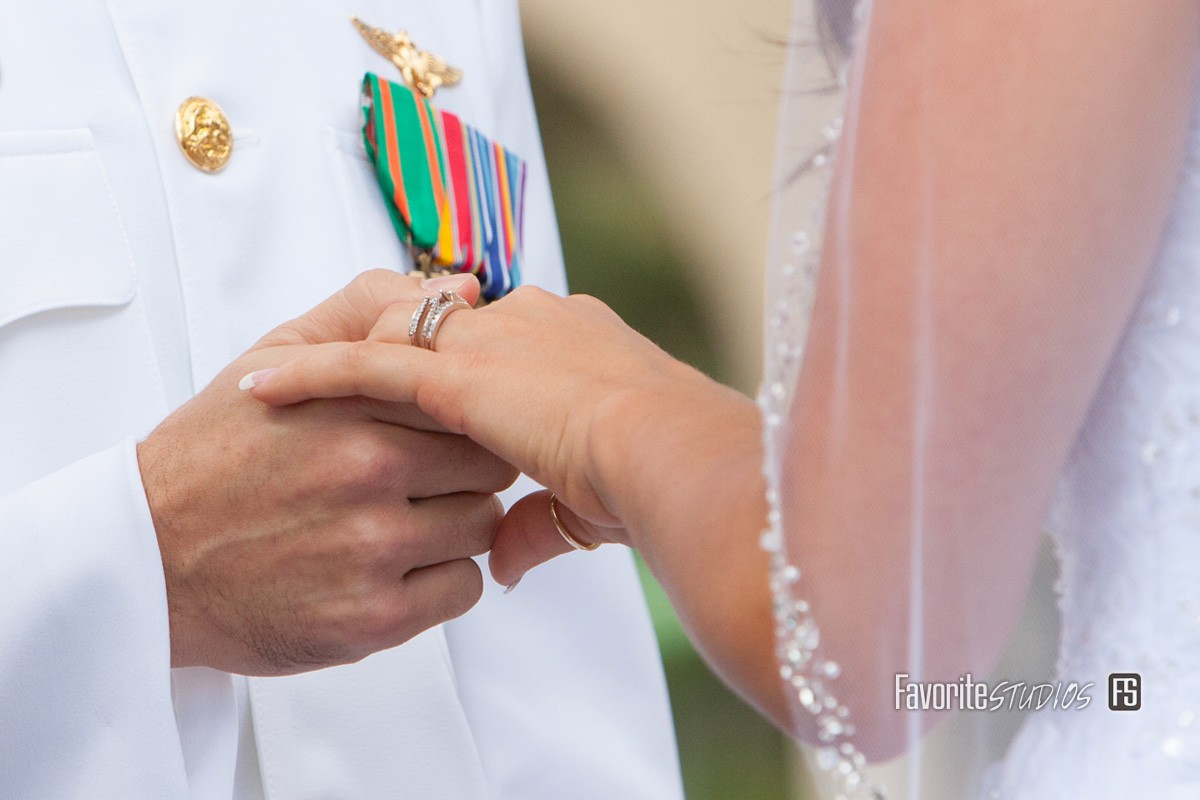 Military Wedding, Military Cermony, Ring Photos, Vows, Florida Photographers