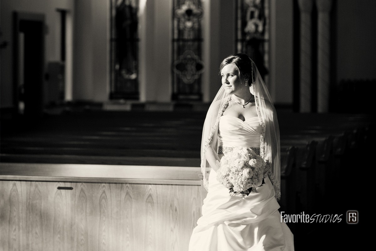 Bride Photo by Favorite Studios Saint Augustine Wedding Photographer at San Sebastian Catholic Church St Augustine Weddng