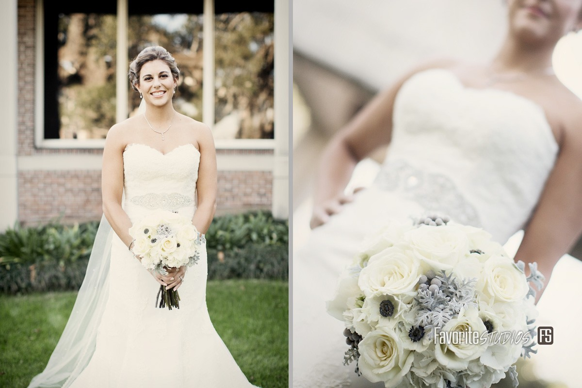 Bride Photo by Favorite Studios Jacksonville Wedding Photographer at Cummer Museum of Art and Gardens wedding venue