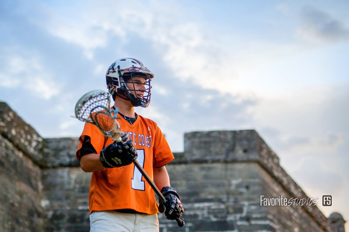 Lacrosse Senior Photo, St. Augustin, FL Historic Fort