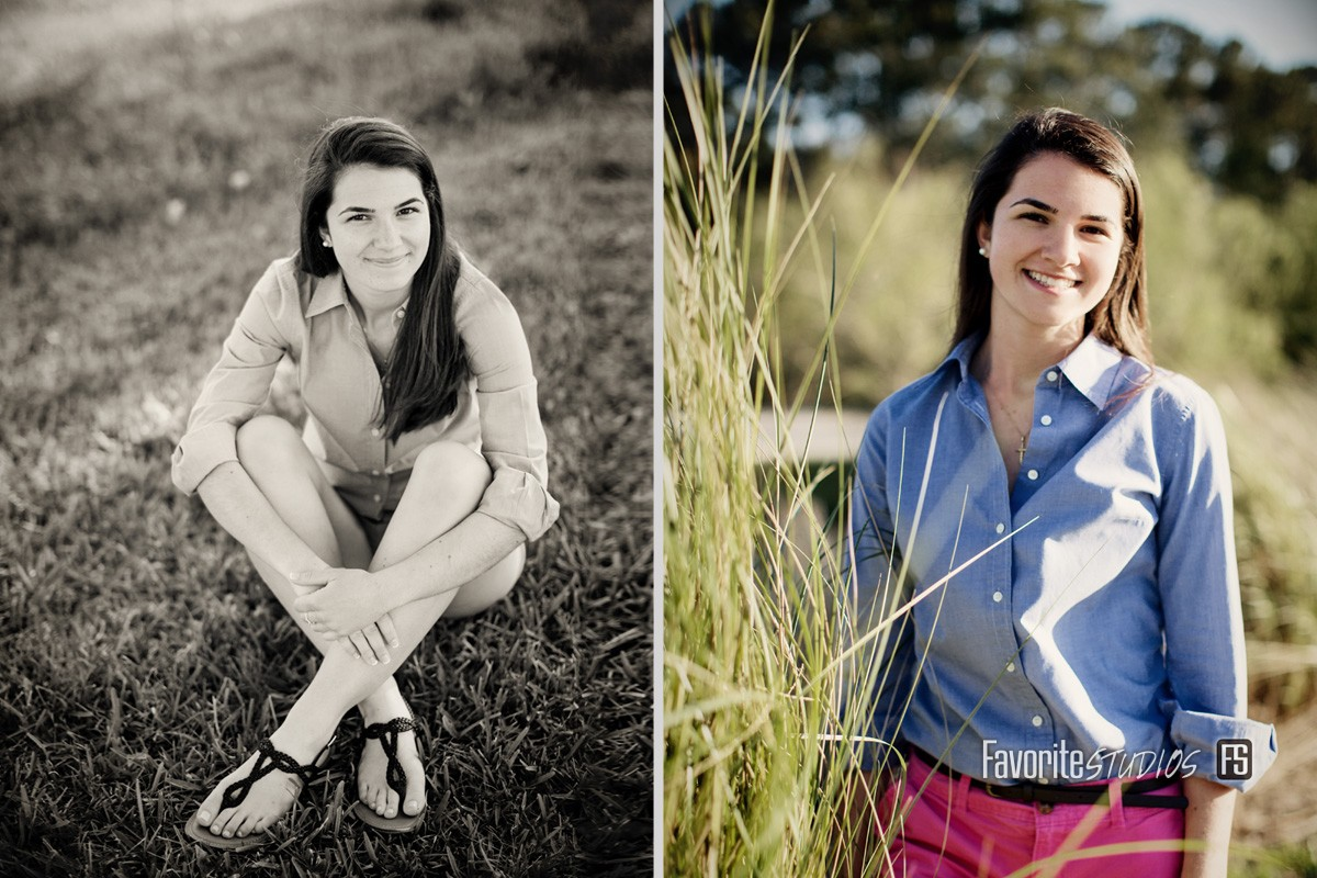 Black and White Editorial, Outdoor Senior Photo, Saint Augustin, Jacksonville, FL