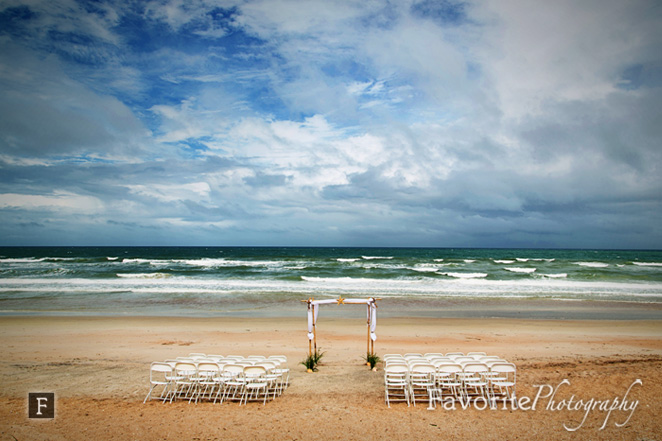 Location The Reef Restaurantblair And David Didn T Get Outside Beach Wedding They D Hoped For Due To An Unpredictable Florida Thunderstorm